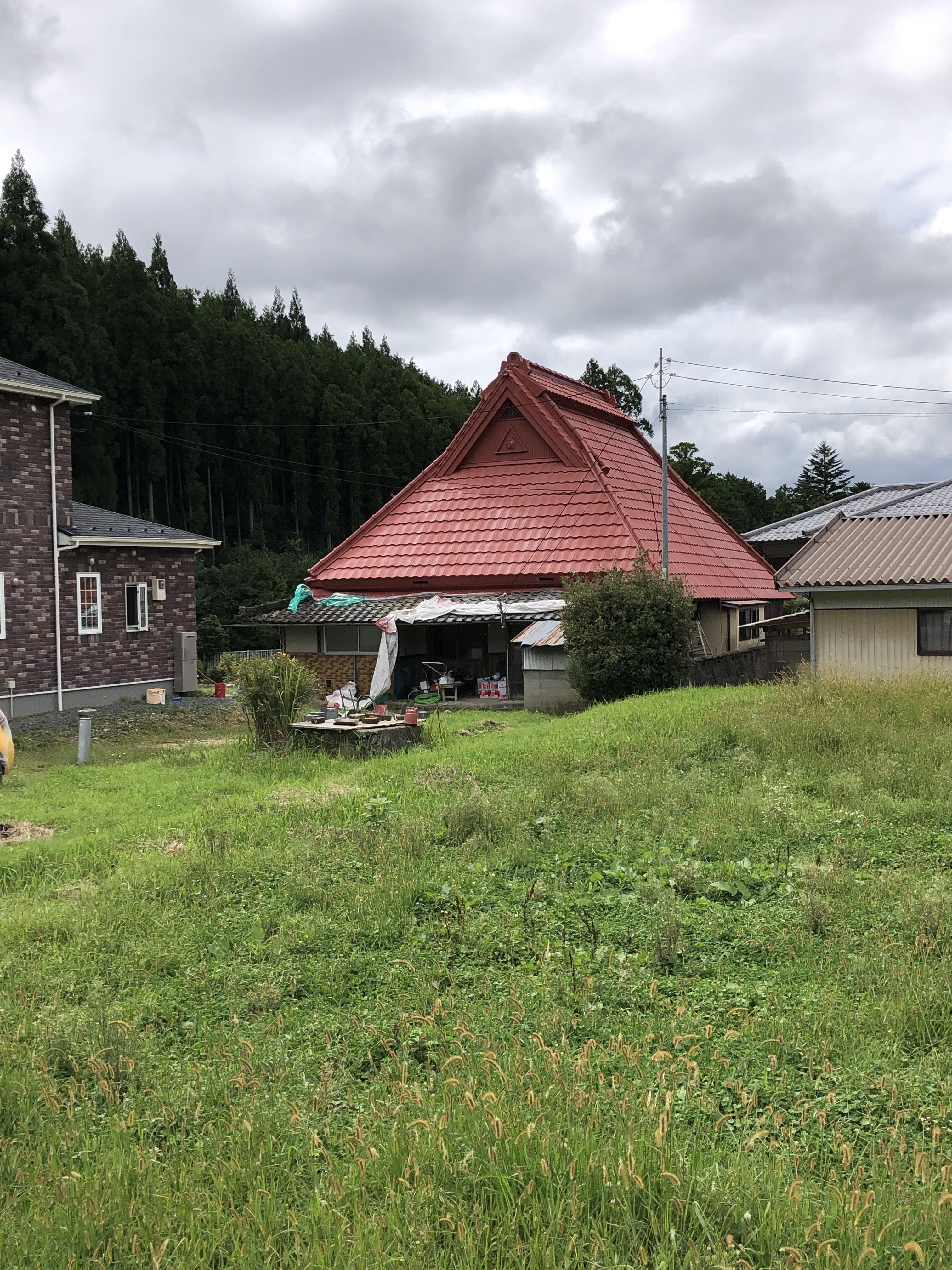 京都府京丹波町にて屋根塗装