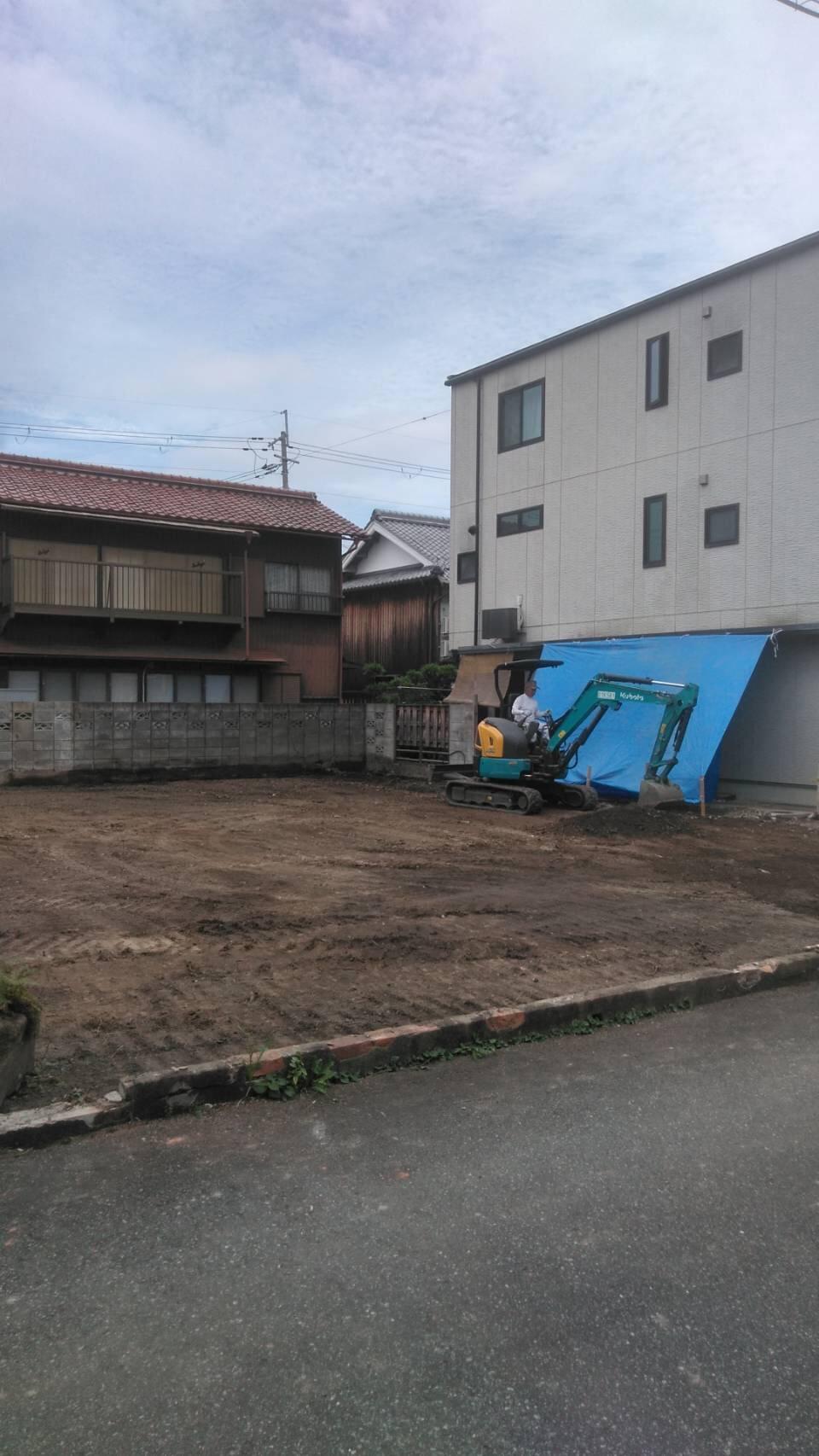 乾新町 家屋解体工事も完了