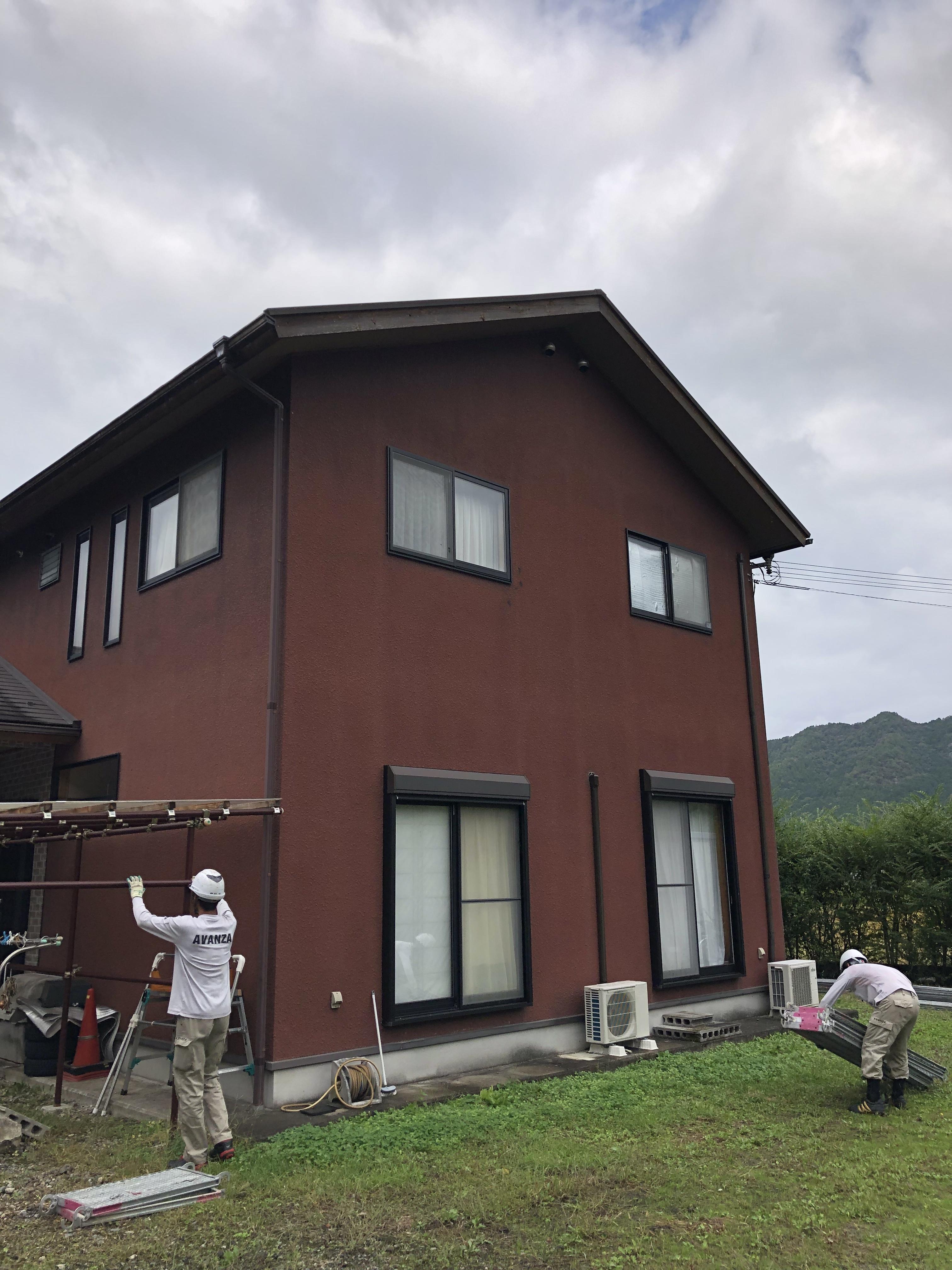 丹波市にて塗装工事スタート