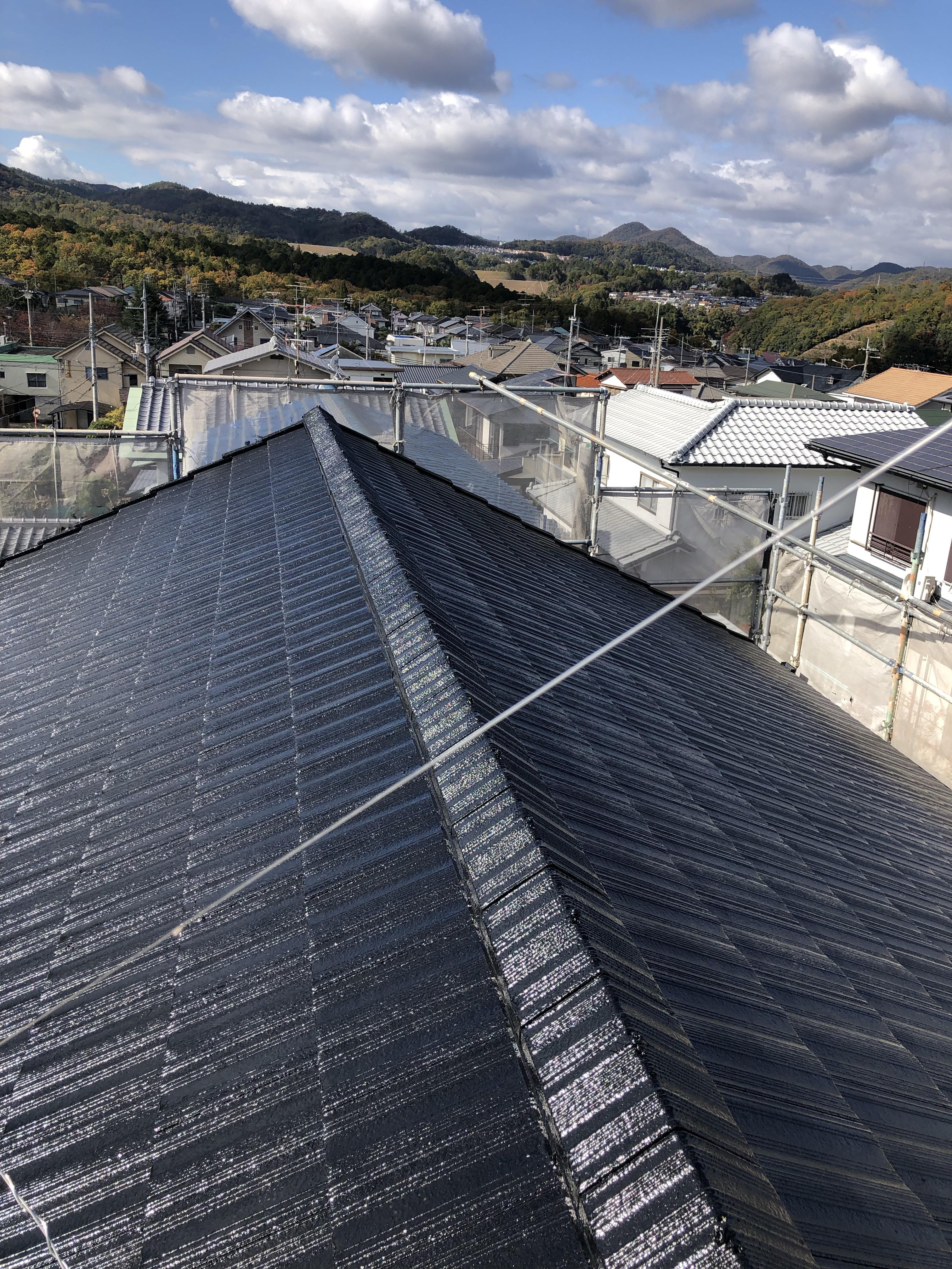川西市 外壁、屋根塗装工事