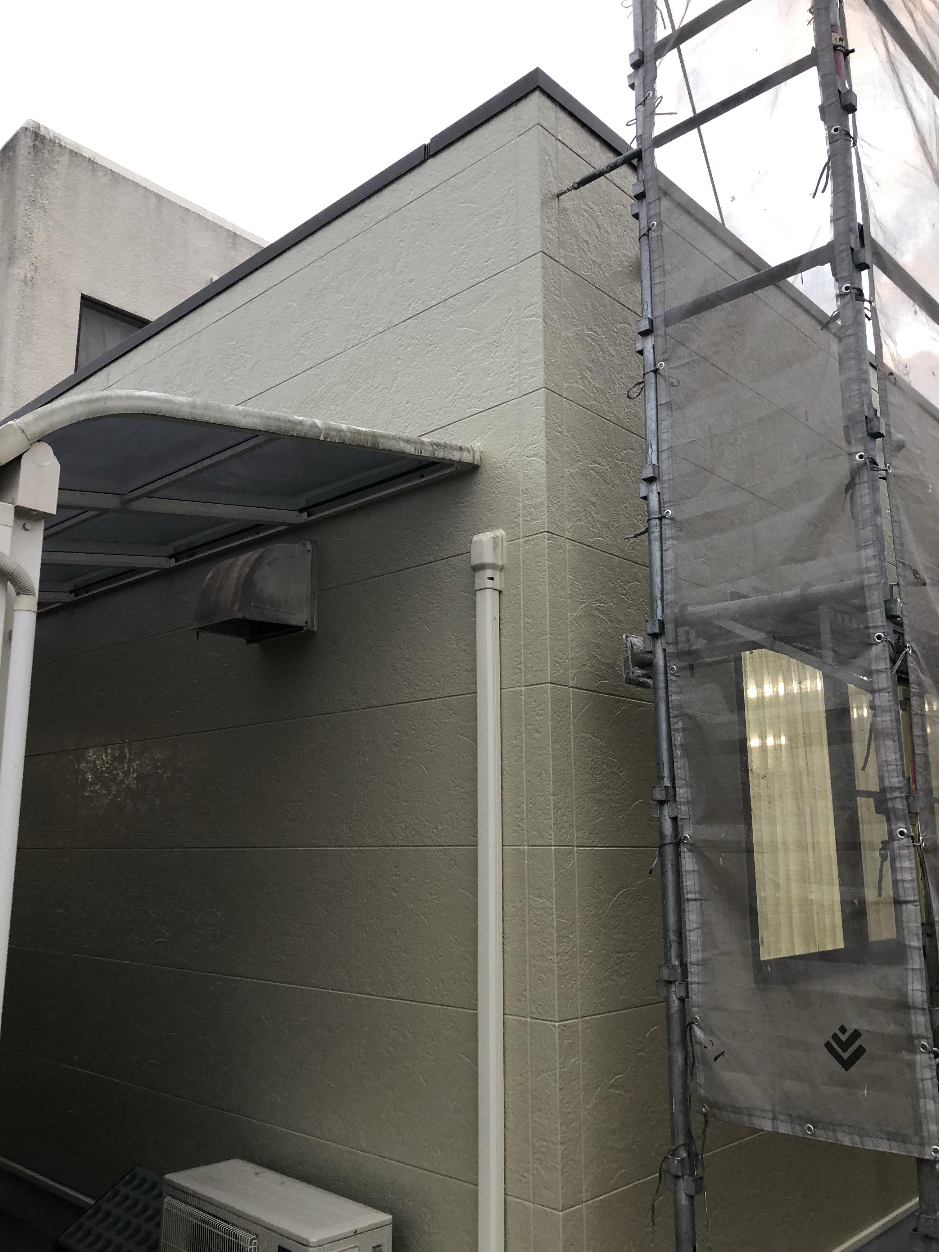 児童クラブの外壁塗装も完成です。