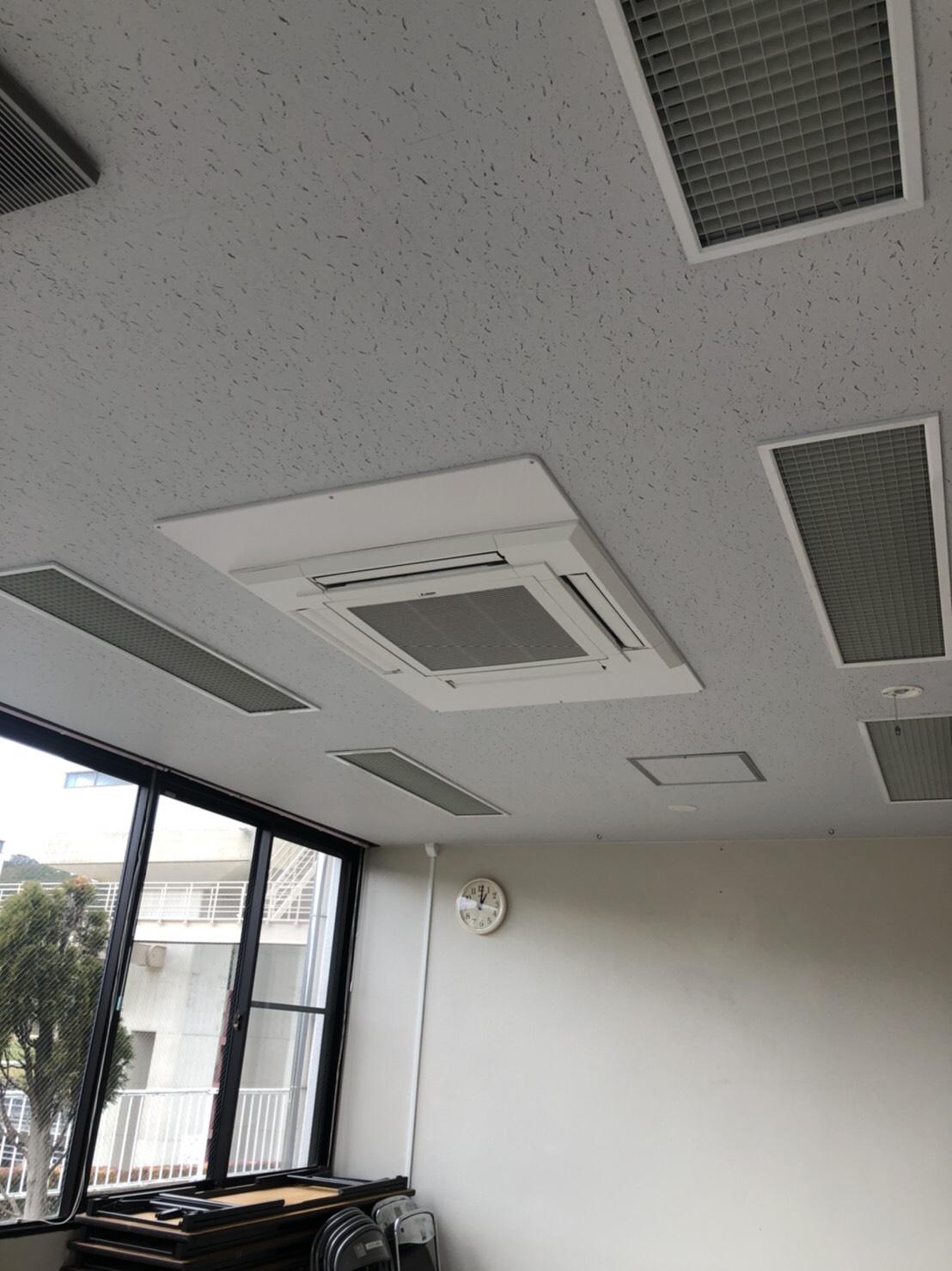 事務所の天井塗装工事