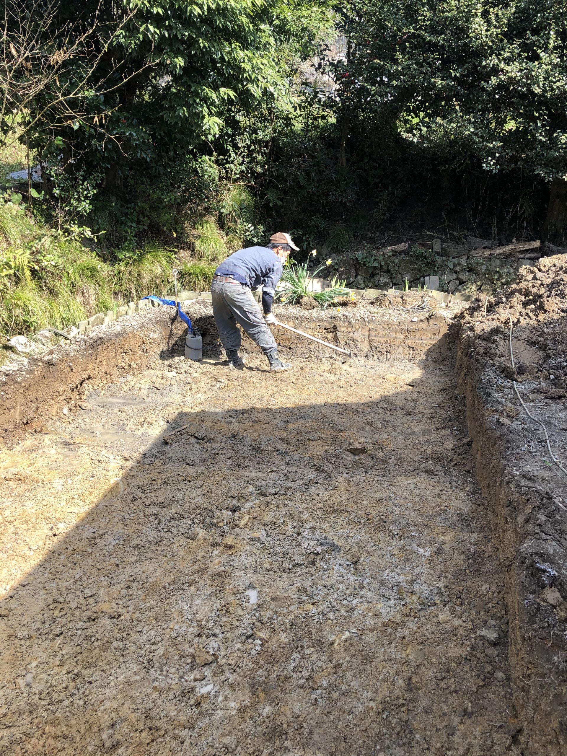 浄化槽の掘削工事