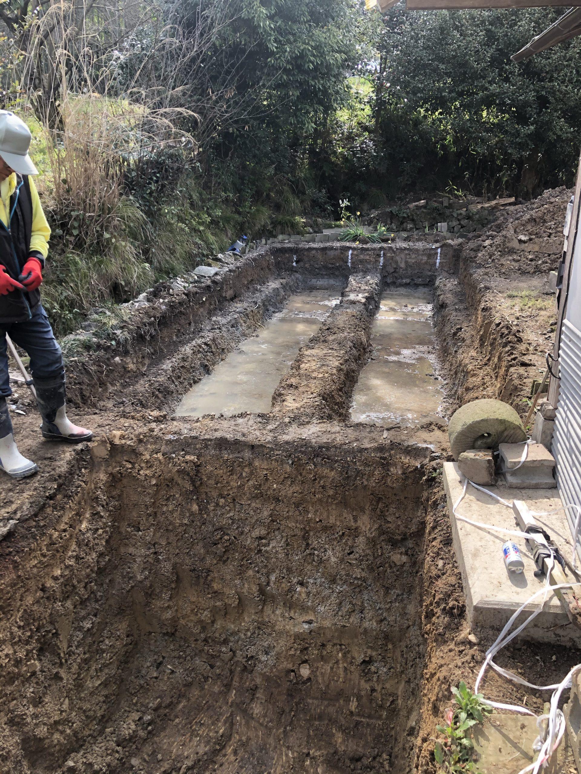 浄化槽の掘削
