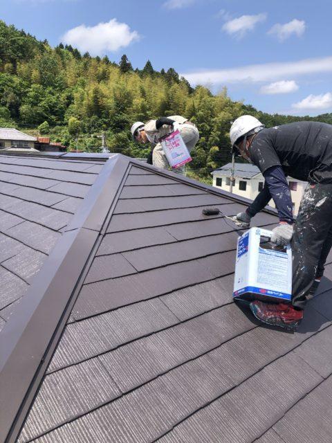 カラーベスト屋根仕上げです